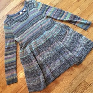 Anthropologie Moth striped sweater tunic